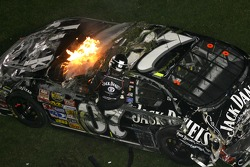 Last lap crash: Clint Bowyer gets out of his car