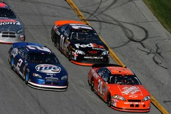 Tony Stewart, Kurt Busch and Denny Hamlin
