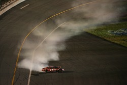 Dale Earnhardt Jr. spins in turn 4 after the crash on the Superstretch