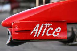 Ferrari F2007 front wing detail