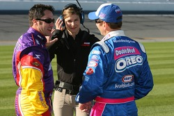 David Stremme, ESPN's Jamie Little and Greg Biffle
