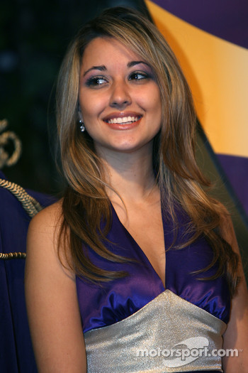 Crown Royal 'Your Name Here 400' contest: the lovely hostess