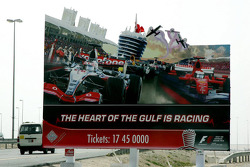 Advertising for the race, around Bahrain
