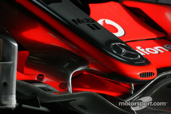 Detail of the McLaren Mercedes MP4-22