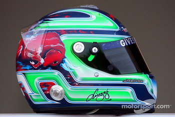 Red Bull Racing and Scuderia Toro Rosso photoshoot: helmet of Vitantonio Liuzzi