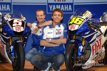 Colin Edwards and Valentino Rossi