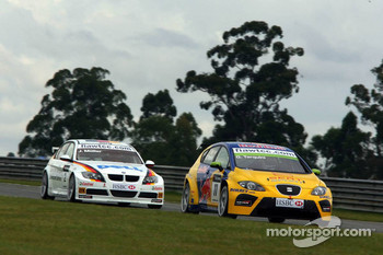 Gabriele Tarquini, SEAT Sport, SEAT Leon and Jorg Muller, BMW Team Germany, BMW 320si WTCC