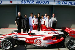 Daniele Audetto, Super Aguri F1, Anthony Davidson, Super Aguri F1 Team, Aguri Suzuki, Super Aguri F1, Takuma Sato, Super Aguri F1 and Team Guests, Super Aguri F1 Team, SA07, Launch