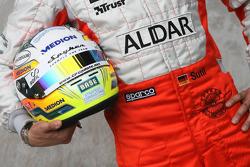 Adrian Sutil, Spyker F1 Team, helmet