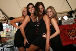 Bacardi party zone: charming Bacardi girls