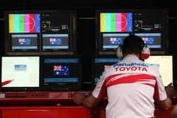 Toyota F1 Team, Pit wall
