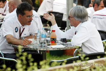 Mario Theissen and Bernie Ecclestone