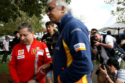Jean Todt, Scuderia Ferrari, Ferrari CEO and Flavio Briatore, Renault F1 Team, Team Chief, Managing Director