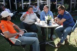 Markus Winkelhock, Test Driver, Spyker F1 Team, Norbert Haug, Mercedes, Motorsport chief, Christian Elsaesser, Ralf Bach