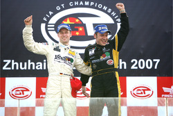 GT1 podium: class and overall winners Stefan Mücke and Christophe Bouchut