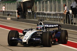 Alexander Wurz, Williams F1 Team - New Bridgestone Tire marking