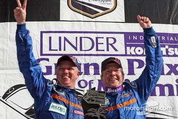 GT podium: class winners Sylvain Tremblay and Nick Ham