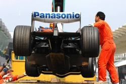 Technical problems at the car of Ralf Schumacher, Toyota Racing