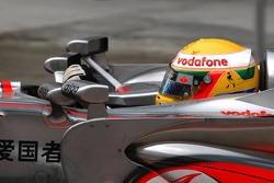 Four mirrors on the car of Lewis Hamilton, McLaren Mercedes