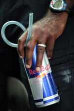 Personal trainer Roger Cleary with a Red Bull can