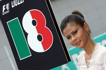Grid girl of Vitantonio Liuzzi