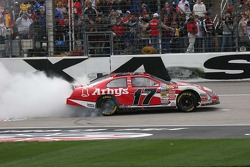 Matt Kenseth continues his celebration on the track