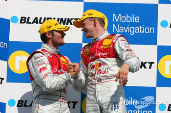Podium: race winner Mattias Ekström and second place Martin Tomczyk