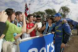 Petter Solberg with fans