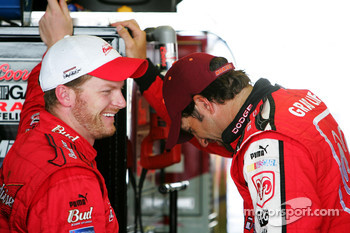 Dale Earnhardt Jr. and Elliott Sadler