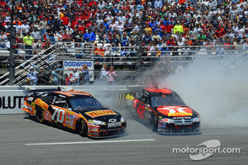 Johnny Sauter and Juan Pablo Montoya crash