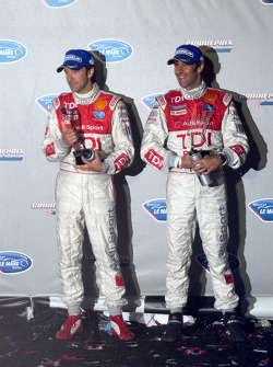 P1 podium: second place Marco Werner and Emanuele Pirro