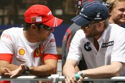 Felipe Massa, Scuderia Ferrari and Nick Heidfeld, BMW Sauber F1 Team