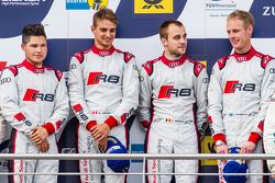 Podium: race winners #28 Audi Sport Team WRT Audi R8 LMS: Christopher Mies, Edward Sandström, Nico Müller, Laurens Vanthoor