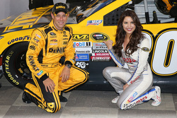 Polesitter Matt Kenseth, Joe Gibbs Racing Toyota with Miss Coors Light