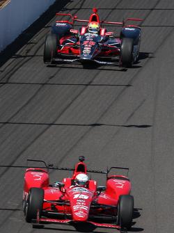 Graham Rahal, Rahal Letterman Lanigan Racing and Justin Wilson, Andretti Autosport Honda