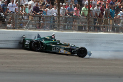 Ed Carpenter, CFH Racing Chevrolet crashes