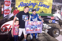 Race winner Chris Windom