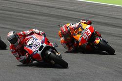 Andrea Dovizioso, Ducati Team and Marc Marquez, Repsol Honda