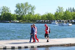 Jean Alesi, with Gino Rosato, Ferrari and Kimi Raikkonen, Ferrari