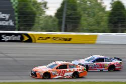 Carl Edwards, Joe Gibbs Racing Toyota and Austin Dillon, Richard Childress Racing Chevrolet