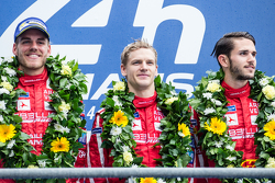 LMP1 privateer podium: class winners #13 Rebellion Racing Rebellion R-One: Dominik Kraihamer, Daniel Abt, Alexandre Imperatori