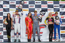 GT Cup podium: Race winner Colin Thompson, second place Sloan Urry and third place Alec Udell