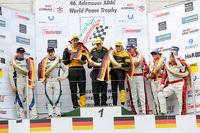 Podium: winners Felipe Laser, Michaela Cerruti, Felipe Laser, second place Peter Dumbreck, Alexandre Imperatori, third place Patrick Huisman, Sabine Schmitz, Klaus Abbelen