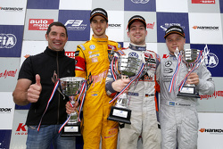 Podium: Max Papis and second place Antonio Giovinazzi, Jagonya Ayam with Carlin and winner Markus Pommer, Motopark Dallara Volkswagen and third place Felix Rosenqvist, Prema Powerteam