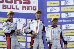 Podium: race winners Simon Dolan, Filipe Albuquerque, Harry Tincknell