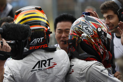 Second place Stoffel Vandoorne and winner Nobuharu Matsushita, ART Grand Prix