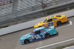 Chris Buescher, Roush Fenway Racing Ford and Alex Bowman, Athenian Motorsports Chevrolet