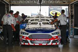 Trevor Bayne, Roush Fenway Racing Ford goes through tech inspection