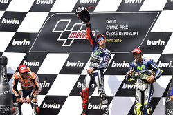 Winner: Jorge Lorenzo, Yamaha Factory Racing, second place Marc Marquez, Repsol Honda Team and third place Valentino Rossi, Yamaha Factory Racing