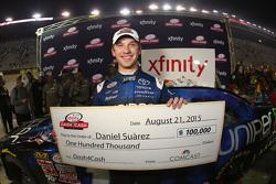 Dash 4 Cash winner Daniel Suarez, Joe Gibbs Racing Toyota